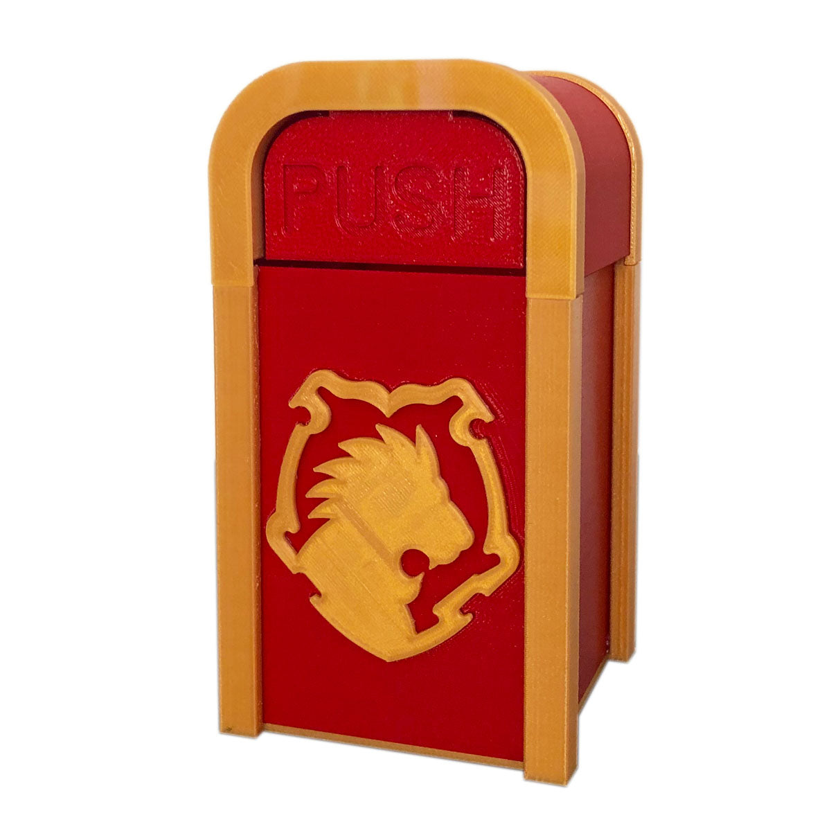 Courageous Lion Desktop Trash Can