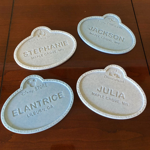 Cast Member Name Tag Drink Coaster - Customizable