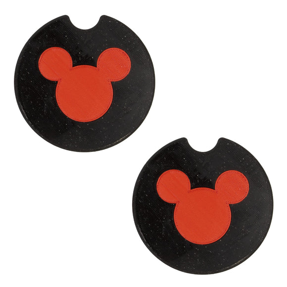 Mouse Head Car Coasters - Set of 2