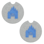 Load image into Gallery viewer, Castle Car Coasters - Set of 2
