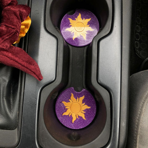 Lost Princess Sun Car Coasters - Set of 2