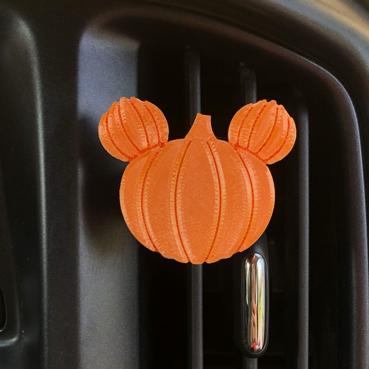 Pumpkin Car Character Clip - Vent Decor / Mask Holder