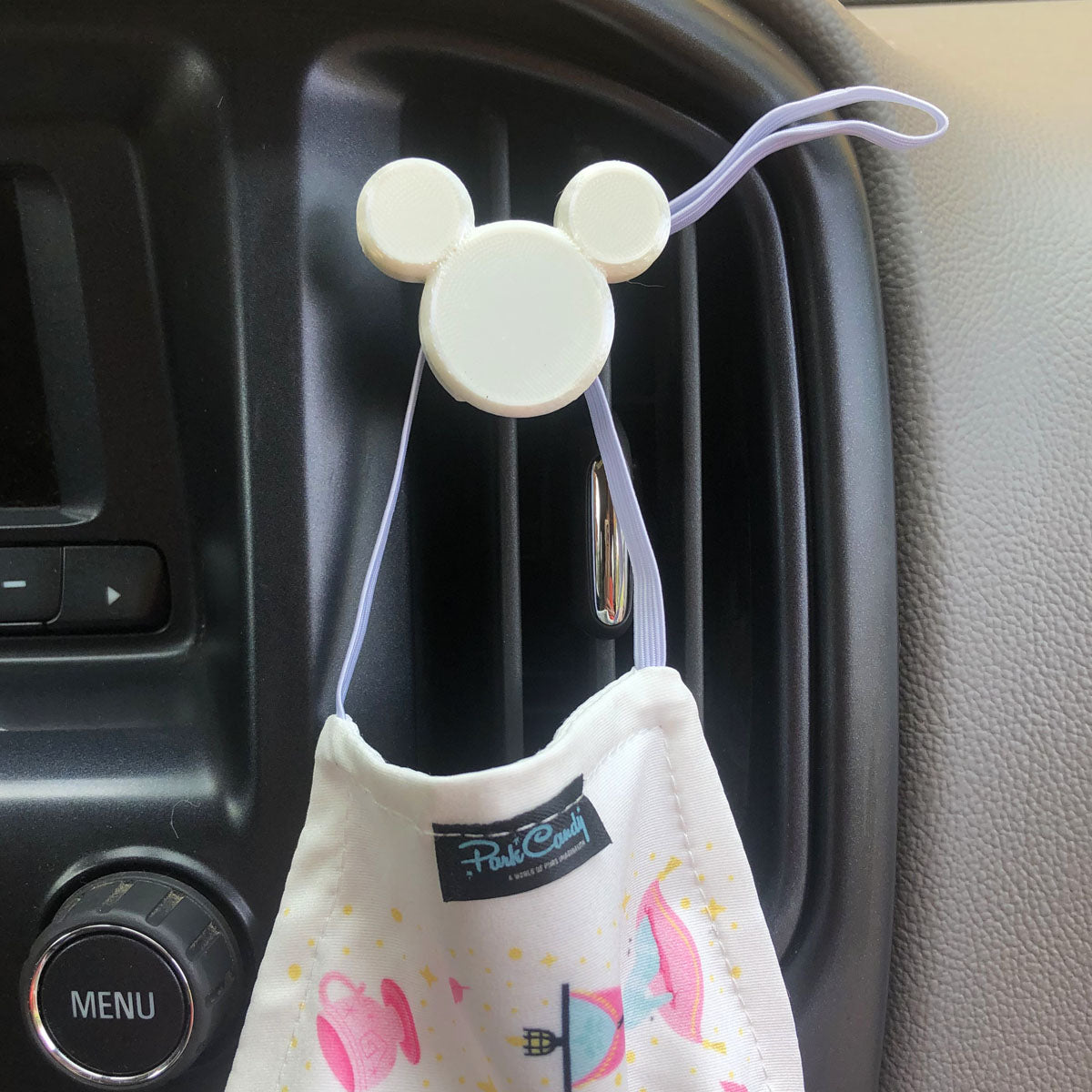 Mouse Head Car Character Clip - Vent Decor / Mask Holder