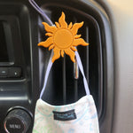 Load image into Gallery viewer, Lost Princess Sun Car Character Clip - Vent Decor / Mask Holder