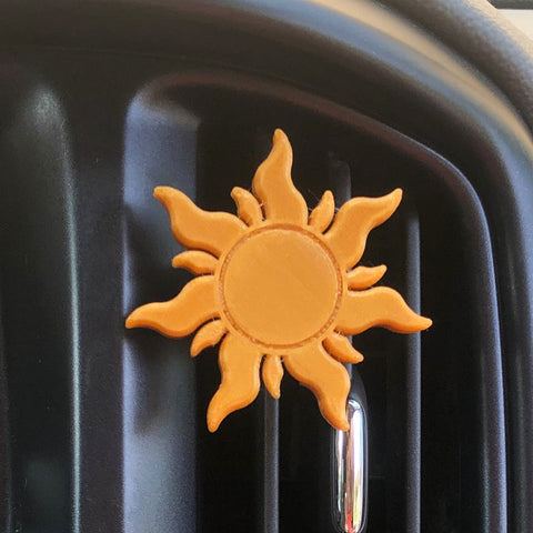 Lost Princess Sun Car Character Clip - Vent Decor / Mask Holder