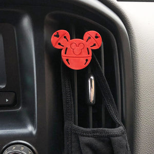 Jingle Bell Car Character Clip - Vent Decor / Mask Holder