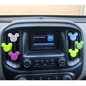 COLOR CHANGING Mouse Head Car Character Clip - Vent Decor / Mask Holder