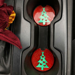 Load image into Gallery viewer, Christmas Tree Car Coasters - Set of 2