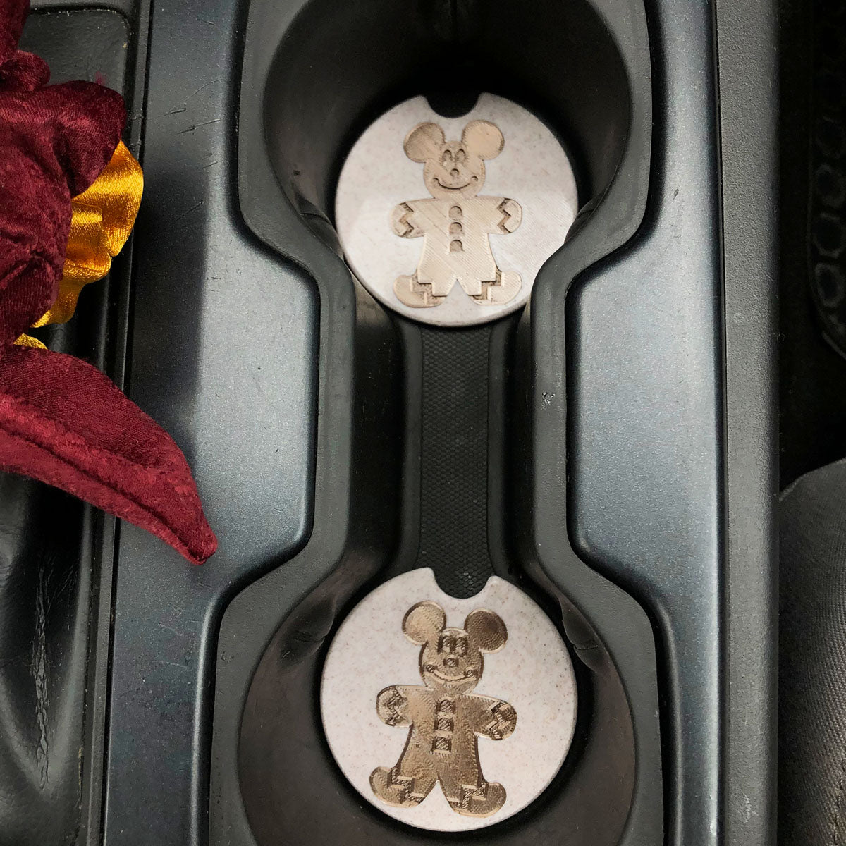 Gingerbread Mouse Car Coasters - Set of 2