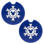 Load image into Gallery viewer, Snowflake Car Coasters - Set of 2