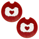 Load image into Gallery viewer, Hand Heart Car Coasters - Set of 2