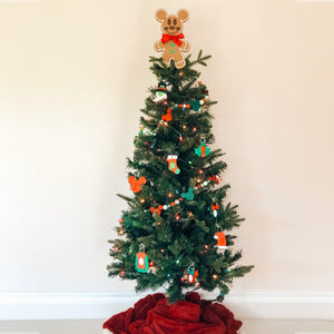 Gingerbread Mouse Christmas Tree Topper (FREE SHIPPING)