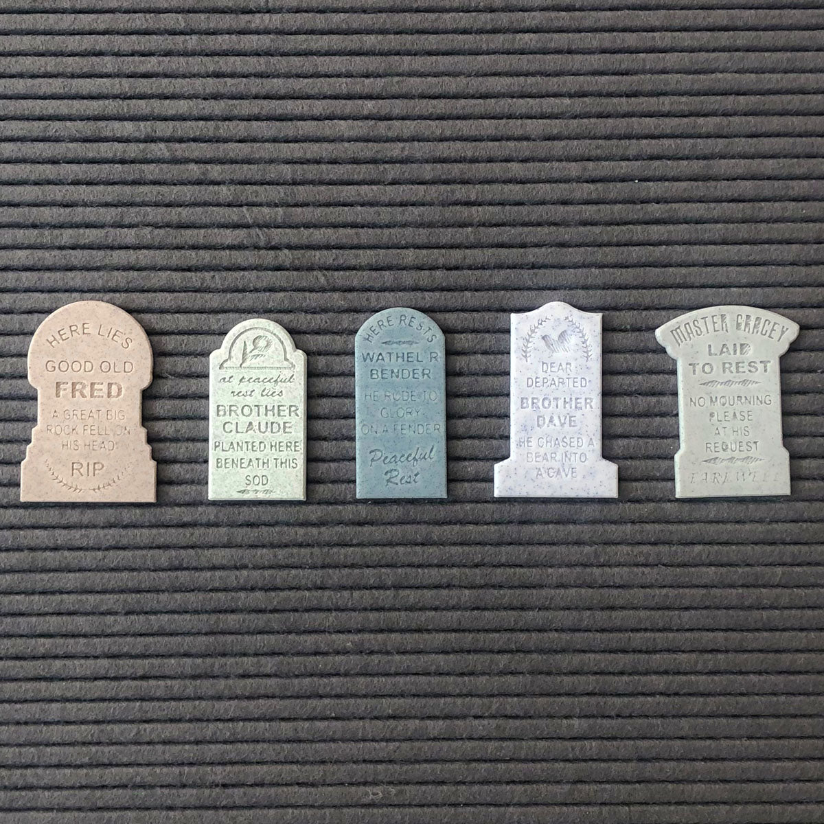 Letter Board Tombstone Mediums (Set of 5)