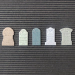 Load image into Gallery viewer, Letter Board Tombstone Mediums (Set of 5)