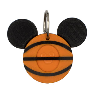 Basketball with Mickey ears Magic Band Buddy for Disney MagicBand 2.0