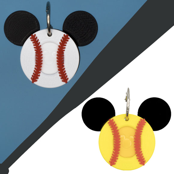 Baseball and Softball Magic Band Buddies with Mickey Ears for Disney MagicBand 2.0
