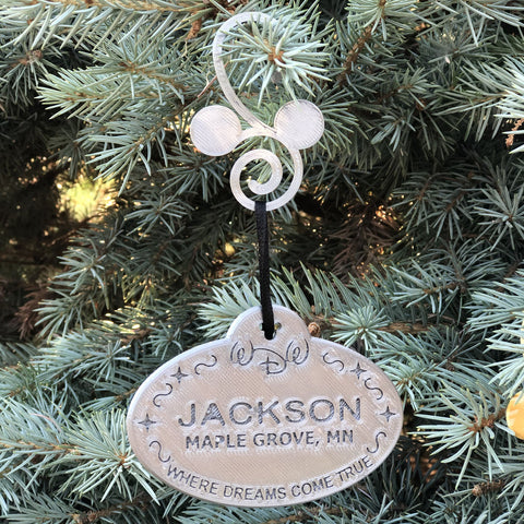 Cast Member Name Tag Ornament - Customizable