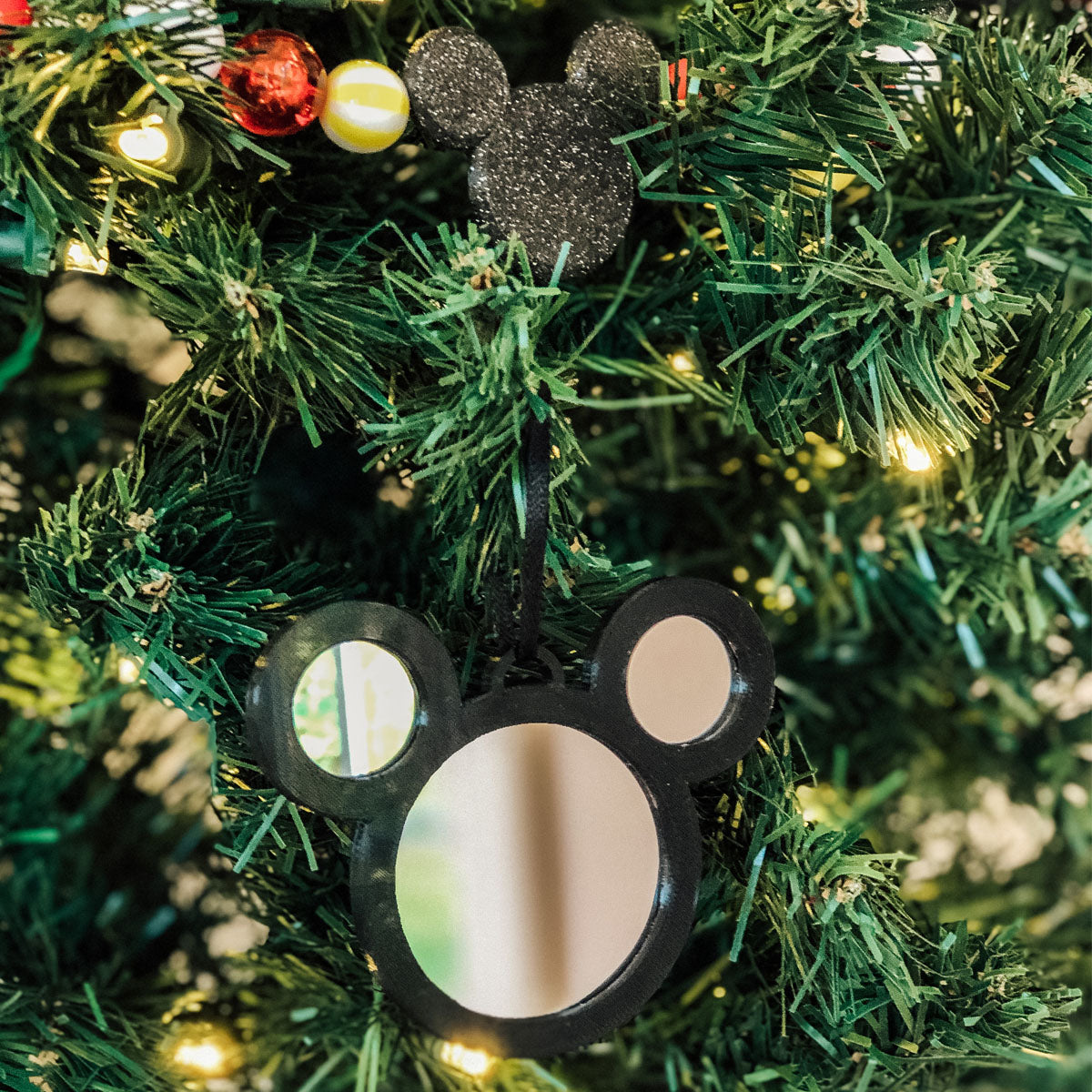 Mirror Mouse Christmas Ornament