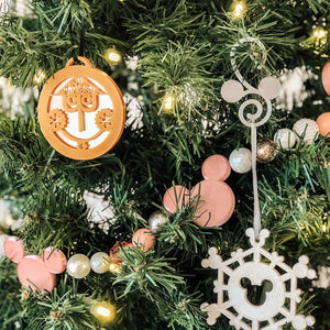 Mirror Small World Clock Christmas Ornament