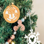Load image into Gallery viewer, Mirror Small World Clock Christmas Ornament