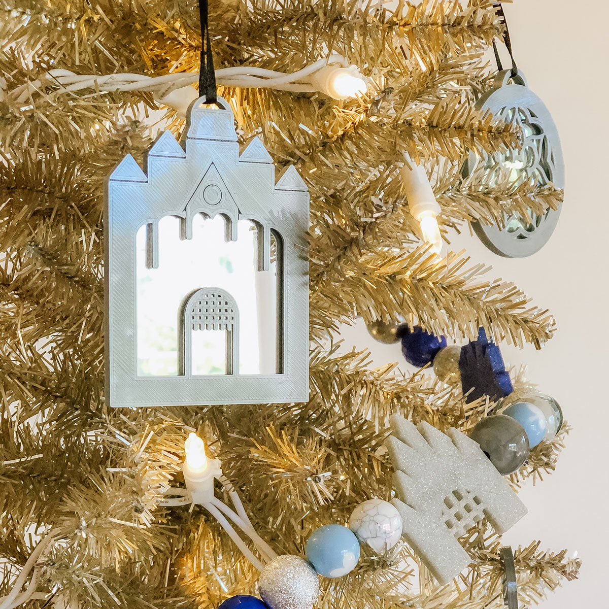 Mirror Tower Christmas Ornament