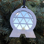 Load image into Gallery viewer, Mirror Spaceship Earth Christmas Ornament