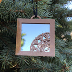 Load image into Gallery viewer, Mirror BoHo Mouse Christmas Ornament