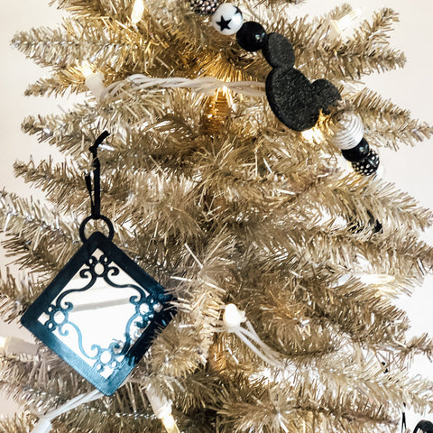 Mirror Scroll Mouse Christmas Ornament