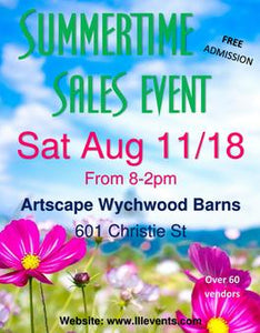 Summer Sale event August 11 @ the Barns