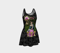 4 of Cups Tarot Flare Dress