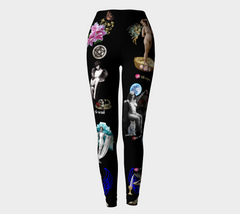 Vintage Erotic Tarot Leggings