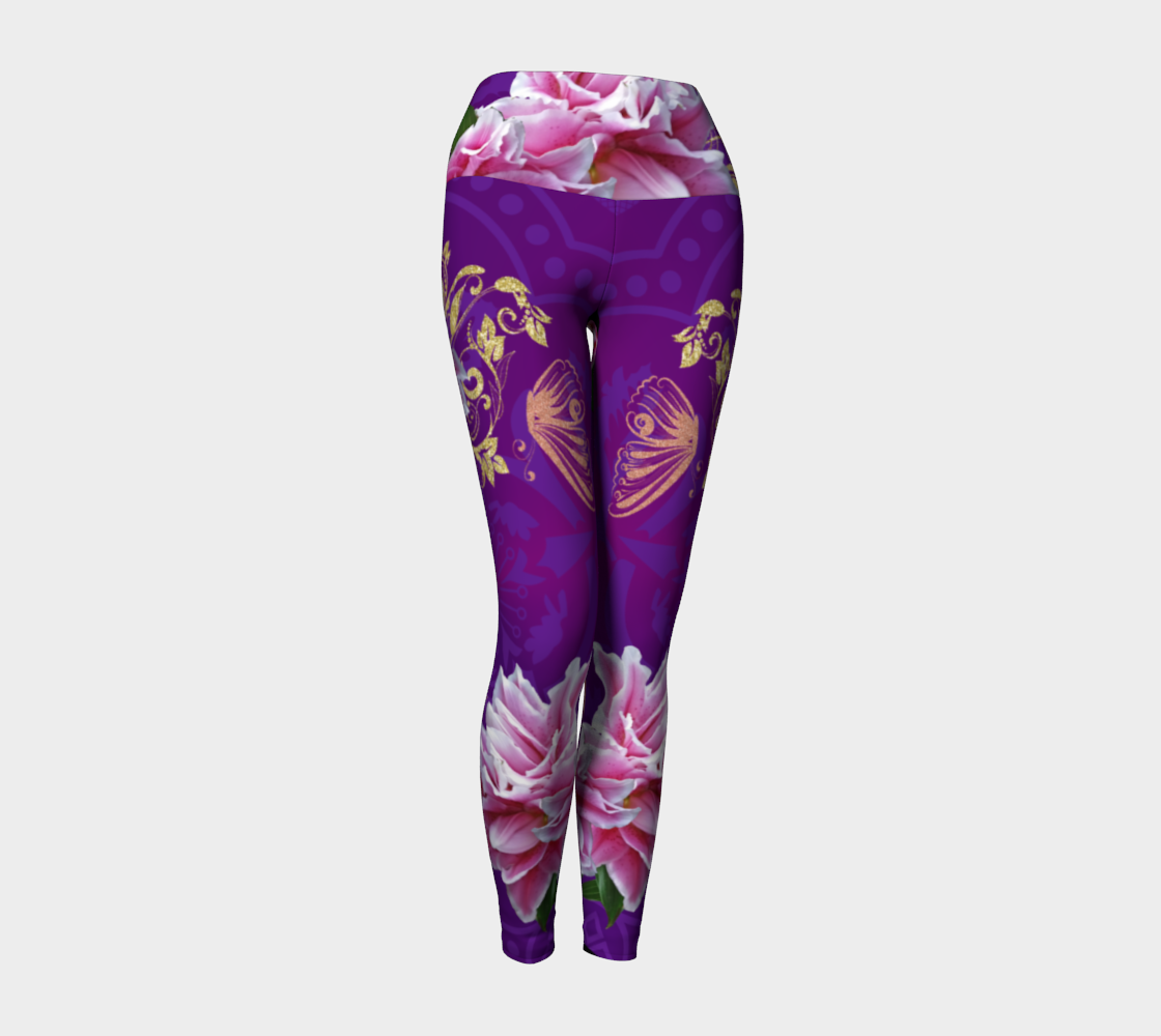 Vintage Erotic Tarot Yoga Pants