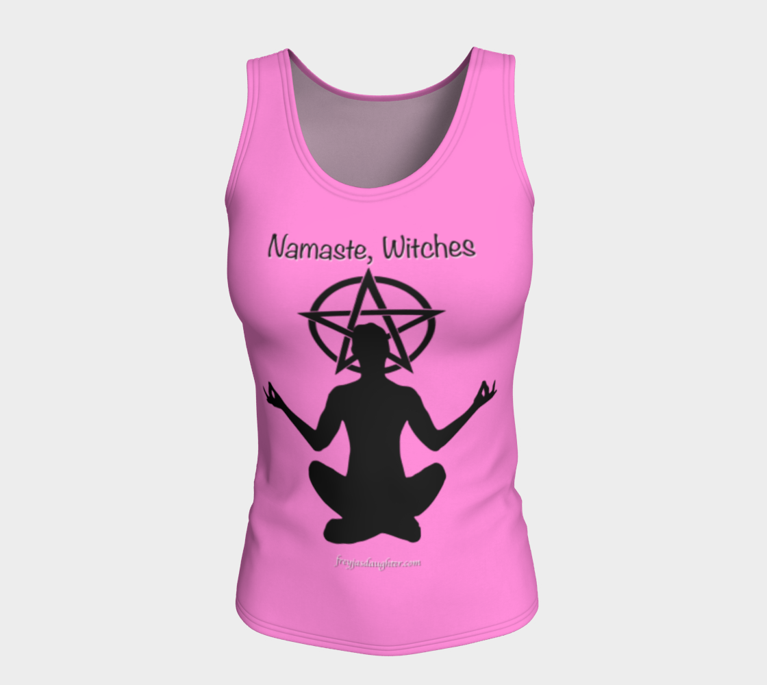 Namaste Witches Seated Pink