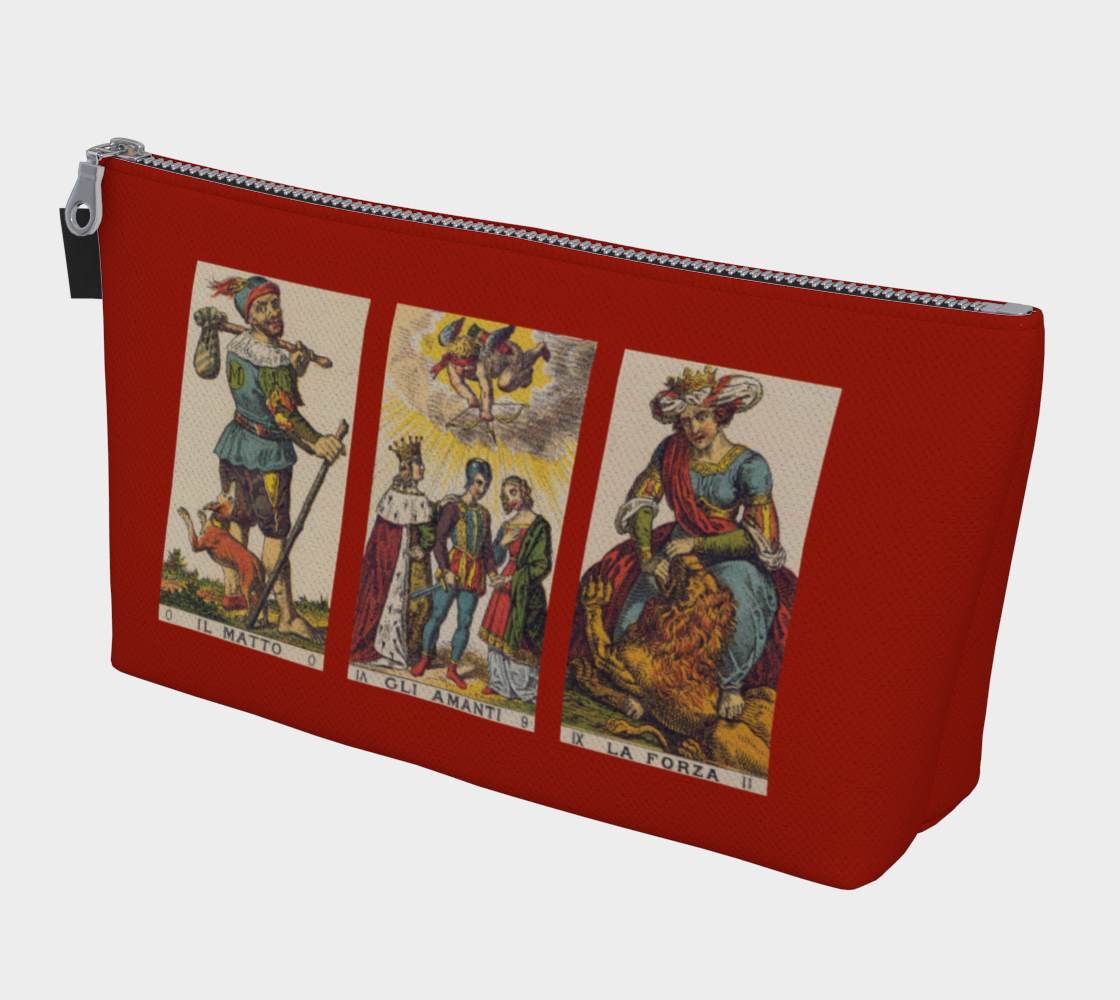 Fool Lovers Strength Tarot Bag Red