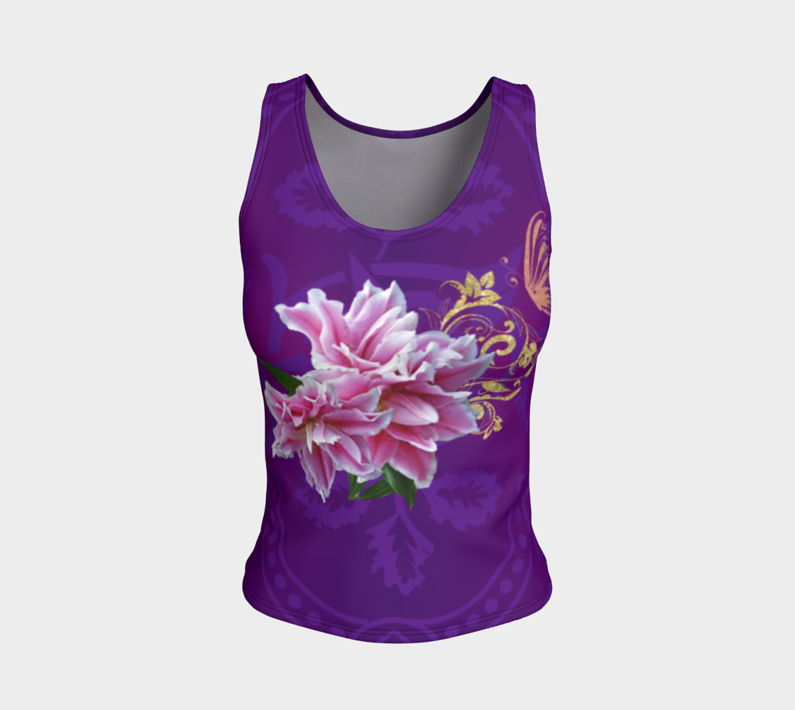 Pink Lily Fitted Tank