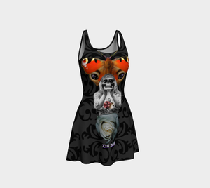 Death Tarot Flare Dress