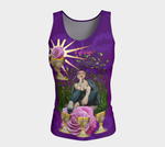 4 of Cups Tarot Fitted Tank Top