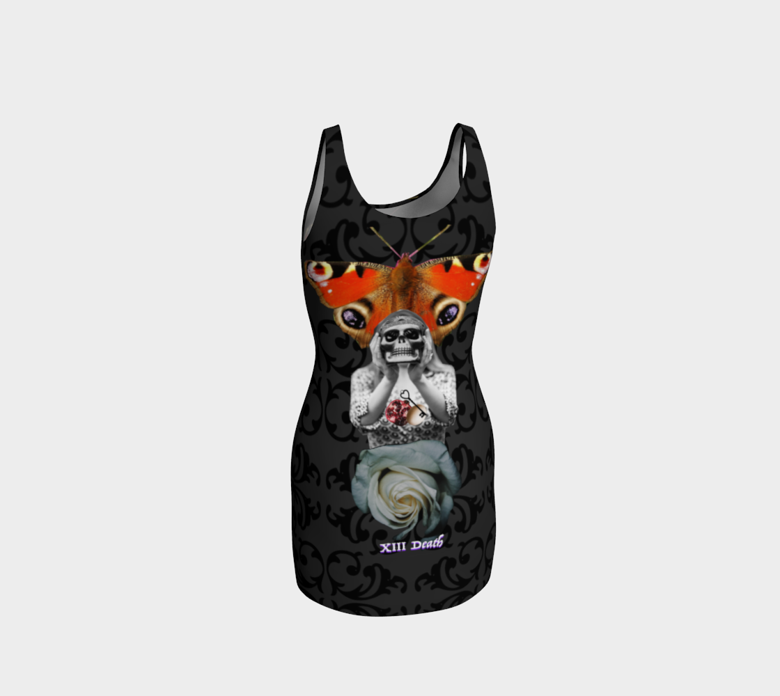 Death Tarot Bodycon Dress