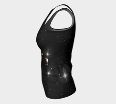 Marilyn Monroe Glamour Galaxy Fitted Tank Top