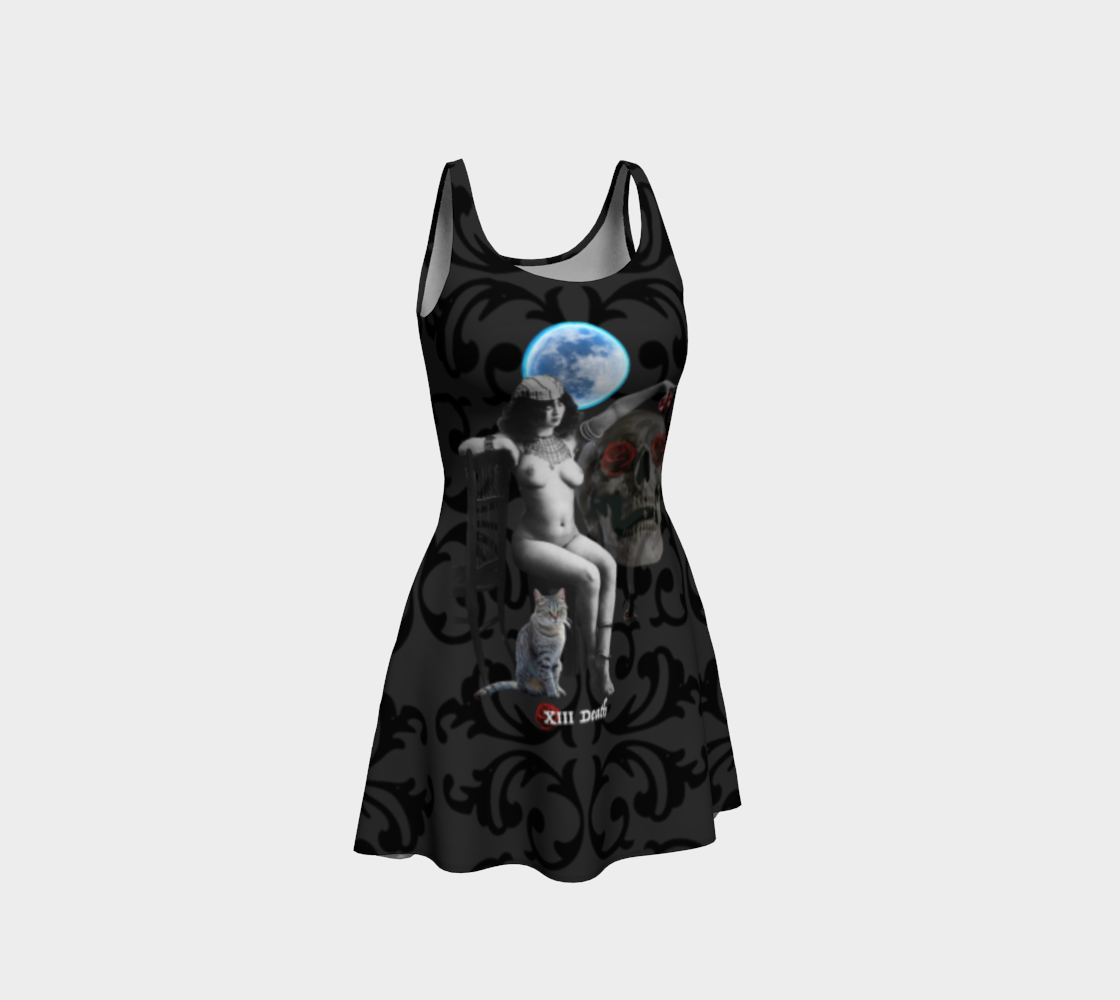 Death Vintage Erotic Tarot Flare Dress
