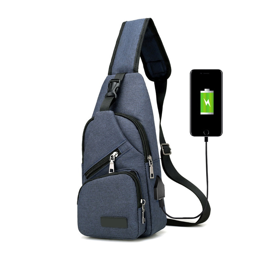 High Quality USB Charge Anti Theft Security Waterproof Travel Crossbody Bag