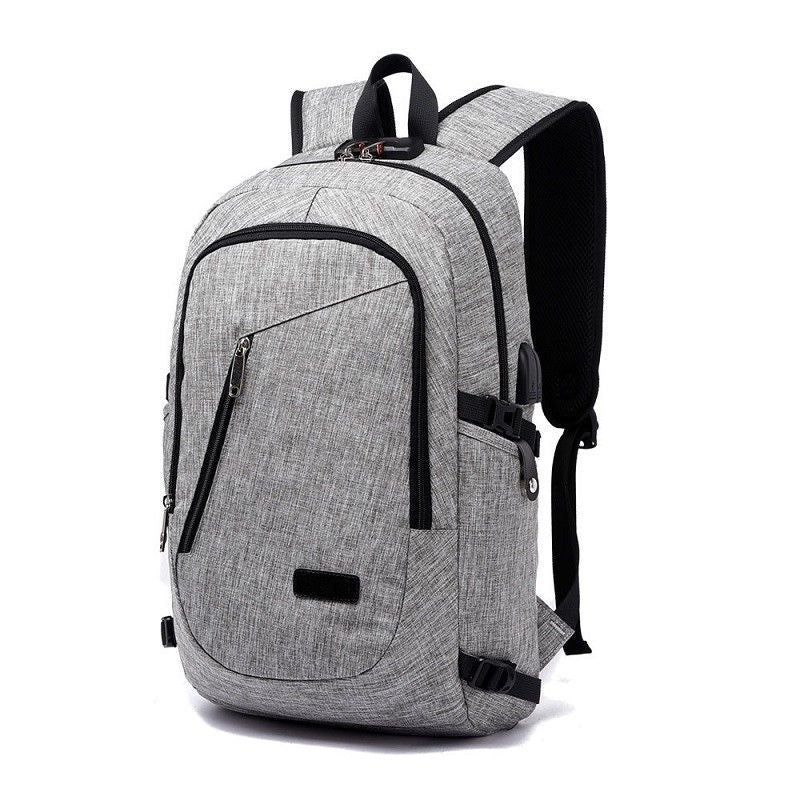 Anti-theft Waterproof Travel Backpack With USB Recharging Function
