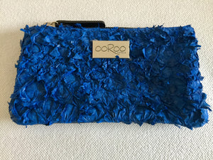 Lilly Purse , featuring blue ruffled barramundi leather
