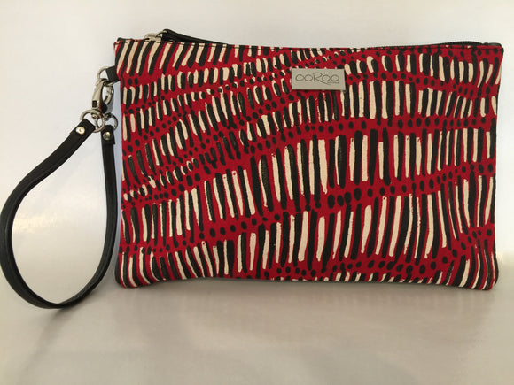 Zara Purse featuring Fish Trap by Aboriginal artist Kieren  McTaggart, Merrepen Arts