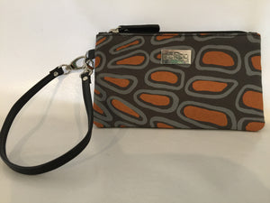 Ella Purse featuring Crocodile Skin by Aboriginal artist Aaron McTaggart, Merrepen Arts