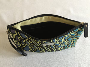 Zara Purse/Clutch featuring Crocodile Skin by Aboriginal artist Aaron McTaggart, Merrepen Arts