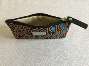 Lily Purse featuring Crocodile Skin by Aboriginal artist Aaron McTaggart, Merrepen Arts