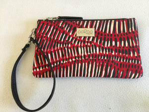 Ella purse featuring Fish Trap by Aboriginal artist Kieren( Karritpul )McTaggart , Merrepen Arts