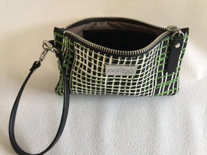 Ella purse featuring Coolamon by Aboriginal artist Kieren (Karritpul) McTaggart, Merrepen Arts