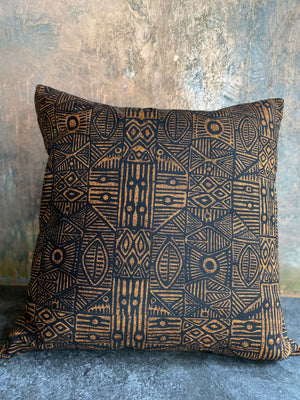 Ooroo Australia cushion featuring Stone Axe  by artist Danny Mankara - c1978,Tiwi Designs